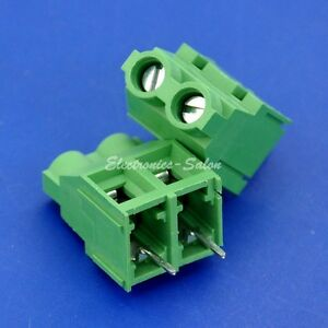 100x 2 Poles 7 62mm 0 3 30amp Pcb Universal Screw Terminal Block