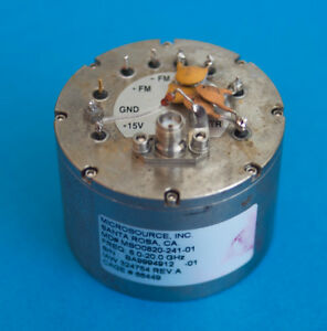 Microsource Yig Oscillator Mso0820 241 01 8 20 Ghz Tested