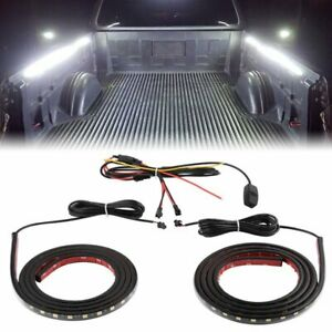 2x 60 Led Work Light Bar Strip Truck Bed Cargo Van For Chevy Ford Dodge Toyota