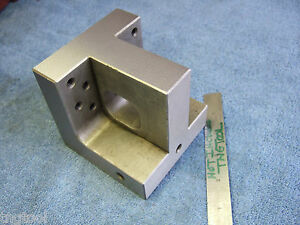 Angle Plate 4 Toolmaker Knee Tapped 1 4x20 Machinist Grind Inspection Edm Mill
