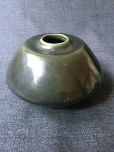 Small Antique Tang Dynasty Chinese Pottery Spinach Glazed Vase Brush Pot 5 3in