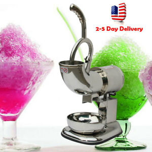 Pro Electric Ice Shaver Machine Snow Cone Maker 440lbs Crusher Shaving 220