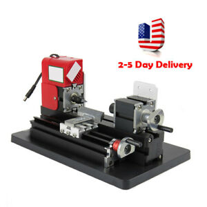 20000rpm Small Motorized Metal Lathe Machine Saw Combined Diy Crafts Usa Stock