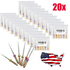 Us 120pc Dental Endodontic Niti Rotary Files Engine Root Canal Sx f3 25mm 20pack
