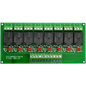 8 Channel 10amp Spdt Power Relay Module Board Dc24v Version X1