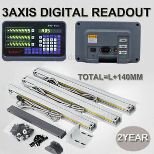 Milling Digital Readout 3 Axis Linear Scale 400 500 1000mm Precision 5 m Encoder
