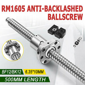 Anti Backlash 1 Set Of Bk bf12 End Machined Ballscrew Rm1605 500mm c7 1 Coupler