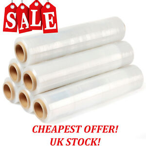 New Strong Clear Pallet Stretch shrink Wrap Cast Parcel Packing Cling Film Long