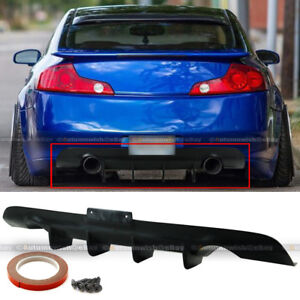 For 03 07 G35 2dr Coupe Ver 2 Jdm Style Unpainted Rear Lower Bumper Diffuser Lip
