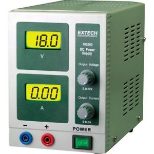 Single output Dc Power Supply 18 volt Digital Lcd Display 3 amp For Mike B New