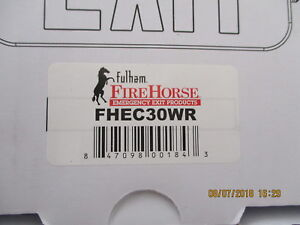 Fhec30wr Fulham Firehorse Micro 2 Head Emergency Light Brand New lot Of 6
