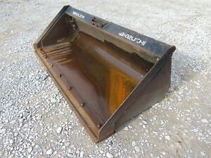 Used Takeuchi Bradco 80 Smooth Skid Steer Bucket Attachment Ship 199