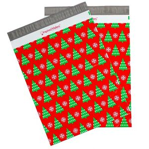 Christmas Trees Printed Poly Mailers 14 5x19 Multiple Quantities