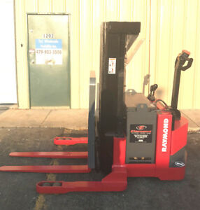 2002 Raymond Rss40 Walk Behind Forklift Straddle Lift Very Nice Triple 150