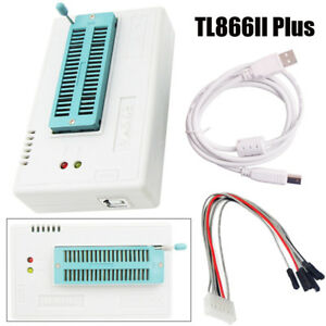 Tl866ii Plus Usb Programmer For 15000 ic Spi Flash Nand Eeprom Pic Avr White New