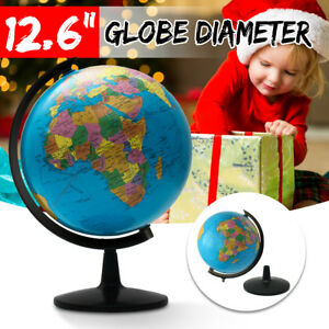 32cm Rotating World Earth Globe Map Geography Education Toy Desktop Decor Gift