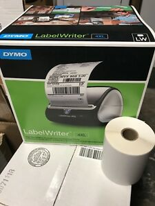 New Dymo Labelwriter 4xl Thermal Label Printer 4x6 1 Extra Roll 220 Labels