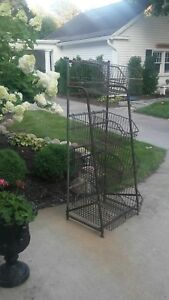 Vintage 8 Wire Basket Metal Bin Cabinets Industrial Storage Store Display