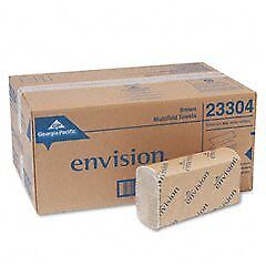Envision Folded Paper Towels Multifold 9 2 X 9 4 Brown new 16 pack 10 Packs
