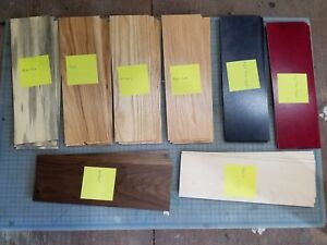 Lot Of Wood Strip Blanks For Engraving Blue Pine Ash Maple Walnut