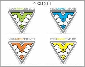 Sports Clipart Vision Graphic Templates Cd s Set Of 4 Vector Clipart Image