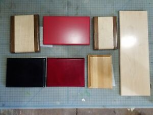 Assorted Lot Of Solid Wood Laser Engraving Wood Plaque Blanks