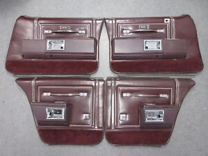 77 90 Caprice B Body Door Panel 4 Pc Set 88 Lesabre Parisienne Delta Maroon us