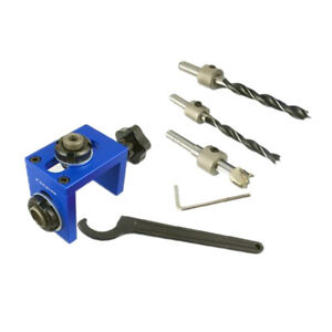 Pocket Hole Dowel Jig Position Drill Guide Woodworking Joinery Tool Kit