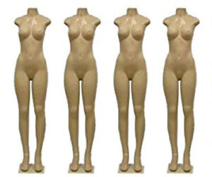 Brazilian Style Full Body Mannequin Female Brazilian Mannequin Creme Base
