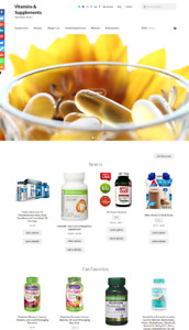 Vitamins Supplements Website Business For Sale Unlimited Stock Shopping Cart