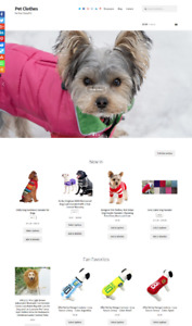 Pet Clothes Website Business For Sale Unlimited Stock Shopping Cart