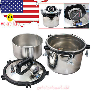 8lautoclave Dental Stainless Steel Pressure Steam Sterilizer Self Inflating Type