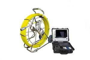 Sewer pipe Inspection Camera 60m Cable 40mm Camera Head With Dvr