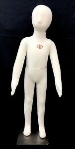 Full Body Covered Children Mannequin Dress Form Display 6 Year Pinnable