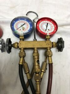 Yellow Jacket Test And Charging A c Manifold Gauge Set W Nrp Gauge