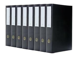 Bindertek 3 ring 2 inch Premium Legal Binders 8 pack For 8 5 X 14 Paper Black