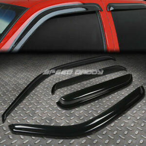 For 99 06 Chevy Gmc Extended Smoke Window Visor Wind Deflector Vent Rain Guard