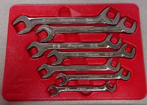 Snap on Tools Vs807b Sae Four way Angle Head Open End Wrench Set 3 8 7 8