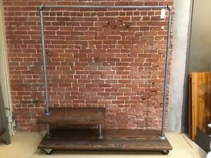 Reclaimed Industrial Pipe Garment Rack