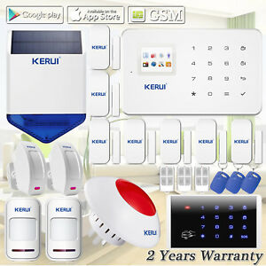 Kerui G18 Gsm Remote Control Wireless Home Alarm System solar Power Siren keypad