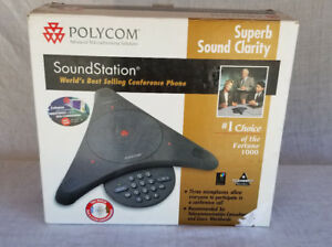 Polycom Soundstation 2 Conference Phone 2201 16200 601 With Wall Module 2 Mics