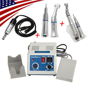 Dental Micromotor Straight Nose Cone Contra Angle Low Speed Handpiece 4hole