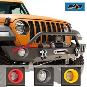 07 19 Jeep Wrangler Jl Jk Front Bumper Full Width With Winch Plate And D Ring