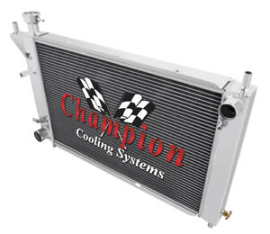 4 Row Western Champion Radiator For 1994 1995 1996 Ford Mustang