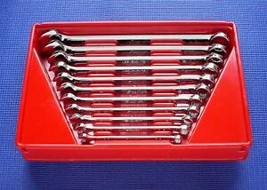 Snap on 11 Piece Sae 12 Point Combination Wrench Set Oex711b