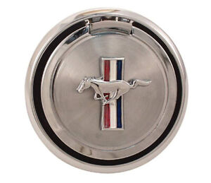 New 1970 Ford Mustang Gas Cap Pop Open Pony Emblem Chrome Free Shipping