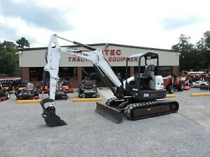 2013 Bobcat E50 Excavator 2 Speed Travel Front Blade Good Condition