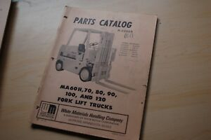 White Ma60h Ma70 Ma80 Ma90 Ma100 Ma120 Forklift Parts Manual Catalog Book Spare