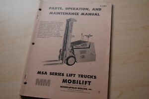 White Msa Series Forklift Parts Repair Shop Service Owner Manual Catalog Book