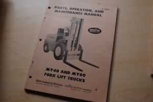 White My60 My40 Forklift Spare Parts Operator Service Repair Manual Catalog Book